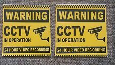 2x STICKER CCTV 24 HOUR VIDEO REC VINYL PRINTED LABEL SHOP BUSINESS SHOP