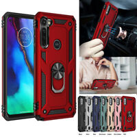 Shockproof Magnetic Armor Ring Stand Case Cover For Motorola Moto G Stylus 2020