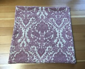 NWOT Pottery Barn Chenille Damask Rose Taupe Pillow Cover 22x22 Catalog Sample