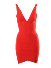 Red Bandage Cocktail Dress - Size XS