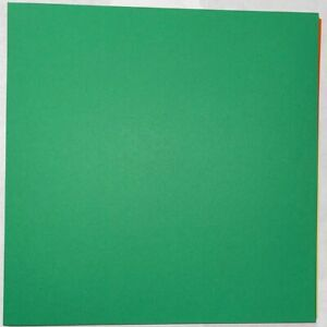 8x8 Green Smooth 25 Sheets 65# Cardstock Scrapbook Paper