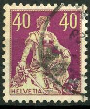 "SWITZERLAND - SVIZZERA - 1908 - Allegoria dell'""Helvetia"" - 40 cent. violetto"