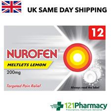 Nurafen Lemon MELTLETS 200mg - 12 self-dissolving TABLETS MAX 2 PACKS PER CUSTOM