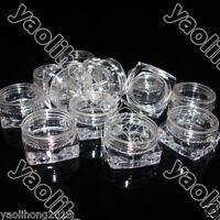 50pcs 3ml Cosmetic Empty Jar Pots Eyeshadow Makeup Face Cream Lip Balm Container