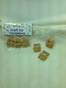 Teddy Bears, pack of 3, Crafts for Occasions