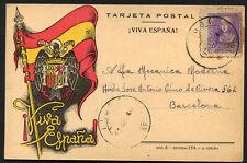 SPAIN civil war 1940 censor Postcard circulated MALLORCA to BARCELONA