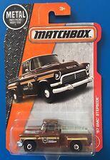2017 Matchbox BOONE COUNTY SHERIFF 1957 GMC STEPSIDE PICKUP TRUCK mint on card!