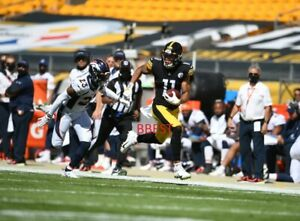 CHASE CLAYPOOL PITTSBURGH STEELERS 84 YRD TD CATCH 9/20/20 VS BRONCOS COLOR 8X10