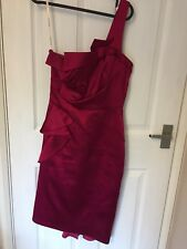 Karen Millen dress size 10 Fuchsia Pink Party Dress Evening Wear Wedding