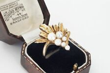 9Carat Pearl Yellow Gold Ring Vintage Fine Jewellery