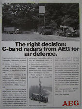 5/1989 PUB AEG C-BAND RADAR AIR DEFENSE MAN TRUCK BUNDESWEHR ORIGINAL AD