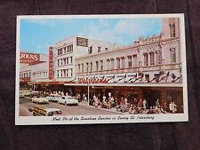 Vintage Postcard: Green Bench Street Scene, St. Petersburg FL