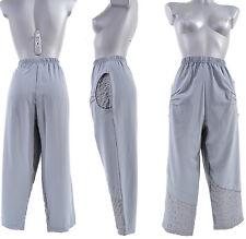 Pantalon Femme COURT T 3 OU 42 44 TAILLE   ELASTIQUE GRIS CLAIR ORAGE ZAZA2CATS