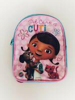 DISNEY/'S DOC McSTUFFINS Small Mini TODDLER BACKPACK Carrying Case Aqua Pink NWT