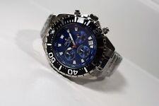 Croton Men's Stainless Steel Quartz Chronograph Watch Blue Dial CC311322SSBL