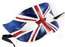British Flag Mask Union Jack Masquerade Costume Glitter Fancy Dress Ball Unisex