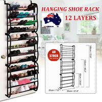 Over The Door Hanging Shoe Holder Organiser Shelf Rack Storage Hook 48Pair