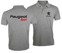 Peugeot Sport Auto Ventilateur Club Sport Voiture Brodé Homme Chemise Polo Top