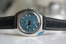 CERTINA DS Automatic *for Woman, NOS, LIGHT BLUE dial, 1970*