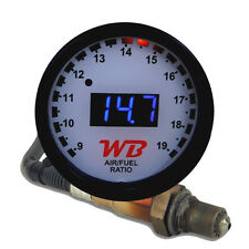 APSX V2 Anti-Glare D2 Digital Wideband O2 AFR Gauge & Sensor Kit White & BLUE
