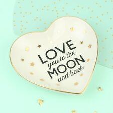 """""""LOVE YOU to the Moon E Indietro 'Anello Piatto"""