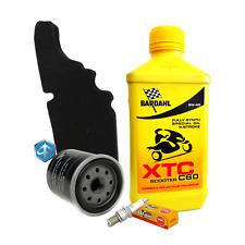 Tagliando Bardahl XTC 5W40 filtro olio aria Piaggio 82635R 843194 candela CR8EB