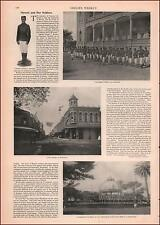 Hawaii, HONOLULU, Fort St., Soldiers, antique views, antique, authentic 1897