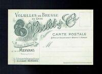 Carte Postale Publicitaire Volailles de Bresse Violot & Cie Château Mervans 190X