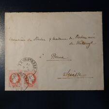 AUTRICHE N°34 PAIRE SUR LETTRE COVER LANDSTRASSE 1879 -> BERNE SUISSE
