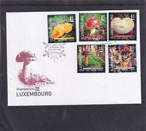 Luxembourg 2013  Mushrooms  First Day Cover FDC