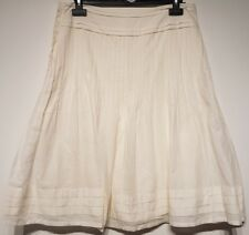 Size 10 Skirt M&S Cream Lined Great Condition Women's Ladies