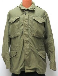 vtg US Army M65 COLD WEATHER FIELD COAT SMALL 1971 Vietnam Green 70s Rolane S