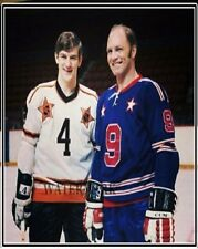 1960 All Star Game Bobby Orr & Bobby Hull Color 8 X 10 Photo Picture