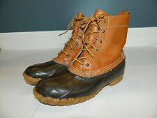 LL Bean Women Brown & Leather Bean Boots sz 7