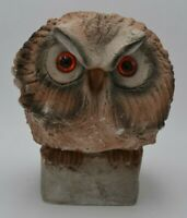 Vintage Desnigners Collection Heavy Carved Stone Owl Numbered 7""