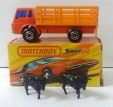 70´s Rare Matchbox Cattle Truck Inbrima with Box - BRAZIL!