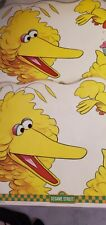 Vintage Sesame Street Big Bird Laminated Placemat Activity Double Sided 1982 (2)