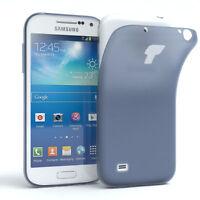Schutz Hülle für Samsung Galaxy S4 Mini Cover Handy Case Matt Dunkeblau