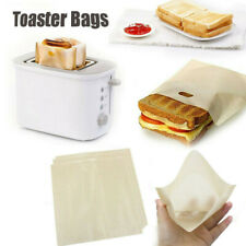 Toaster Bags Reusable Non-Stick Grilling Bread Bagel Heat Resistant Microwave US