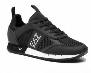 Emporio Armani X8X027 XK050 Mesh Trainers Black
