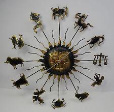 Ältere Sternzeichen Wanduhr elektrische 220v. Uhr - made in Hongkong ~ 70er