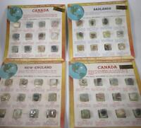 Vtg World Library of Rocks Gems Minerals Specimens New England Badlands Canada