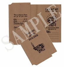Ww2 Ration Book Holder - 1939 to 1943 (exact Copy)