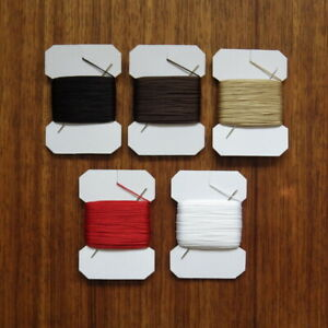 VERY STRONG LEATHER SEWING THREAD 1mm THICK PLUS  BLUNT NEEDLE