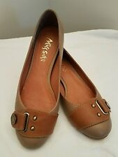 Miss Sofi Shoes Flats 35 (4.5) Tan With Brown
