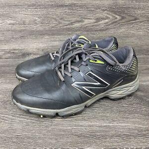 New Balance Men's NBG2004 Waterproof Spiked Golf Shoe - Black/Green, 9 D