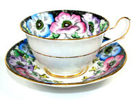 Taylor Kent Teacup Longton England Bone China Floral  Saucer 6831 Vintage
