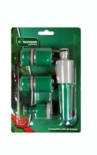 Kingfisher Garden Hosepipe Spray Nozzle Fittings Connector Starter Set Pack