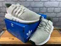 ADIDAS MENS UK 11 EU 46 EQT SUPPORT 93/17 TRAINERS OFF-WHITE GREY KHAKI RRP £150