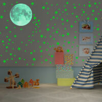 Wall Stickers Glow In The Dark Luminous Stars Moon Planet Space Kid Room Decal